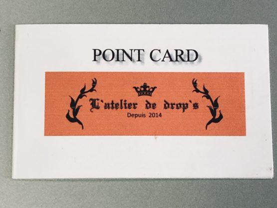L'atelier de drop'sのメンバーズカード表紙