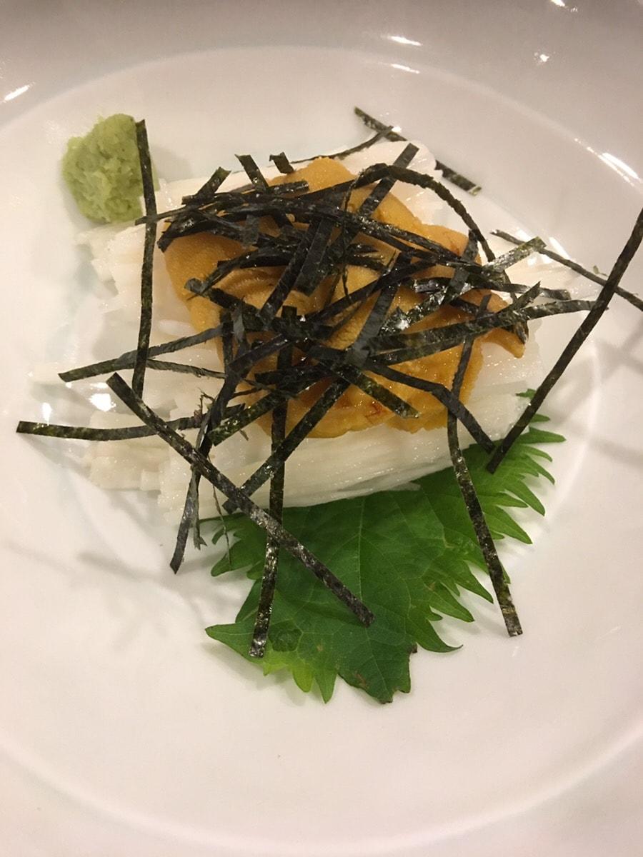海道_長芋のウニ和え