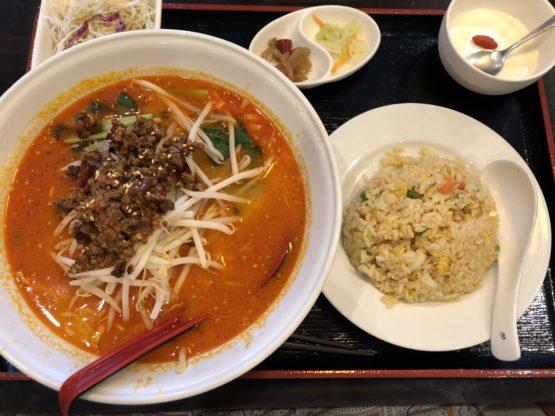 龍晶飯店の担々麺ランチ