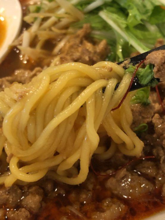 柏担々麺の麺