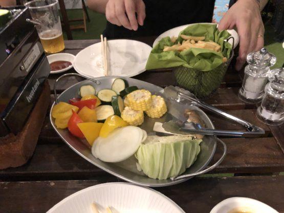マルシェバトンバーベキューの野菜
