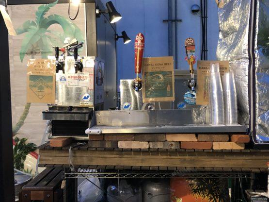 マルシェバトンライフのビールサーバー