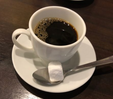 大島でセットのコーヒー