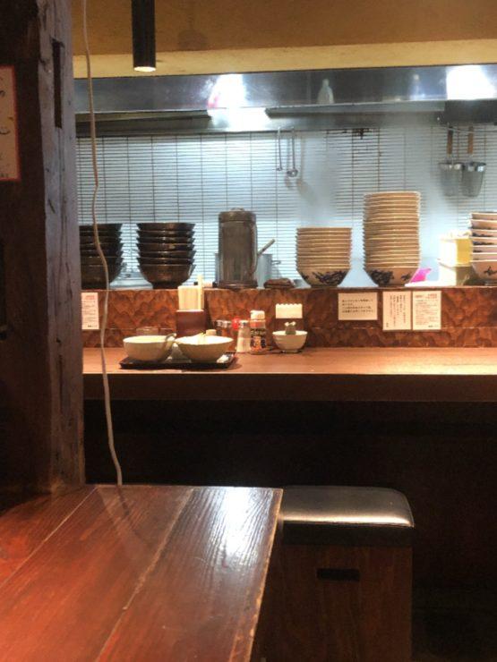 麺屋こうじのカウンター