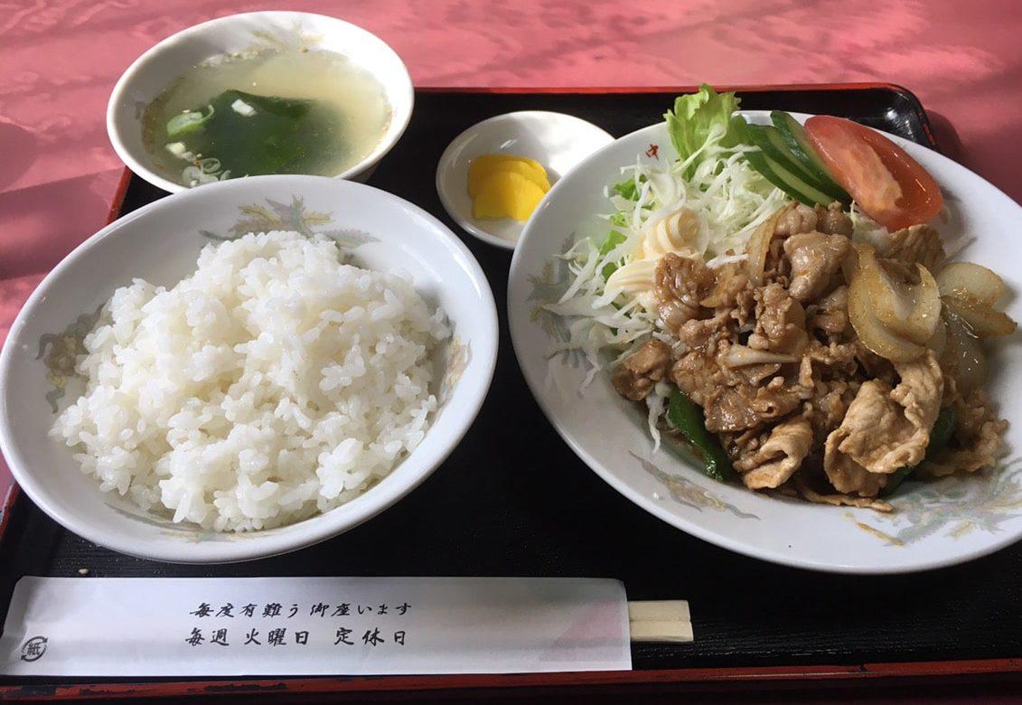 東洋軒_定食_生姜焼き定食