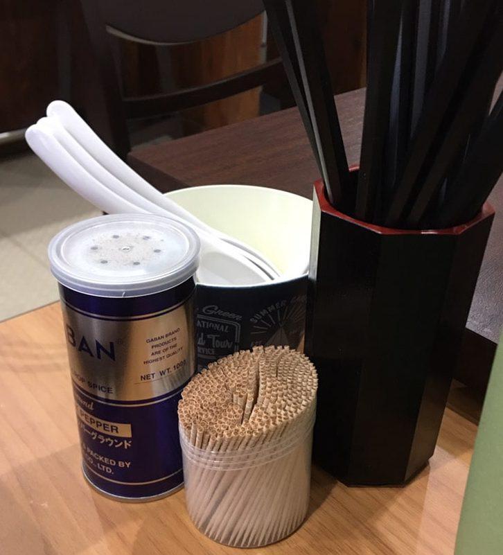 中華蕎麦-萌芽 (ほうが)_店内_調味料